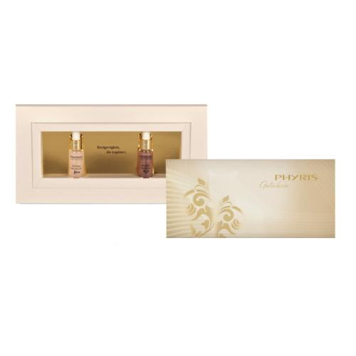 Christmas Phyris Gift Set Time Release in Gold Two mini serums in one box with blank coupon
